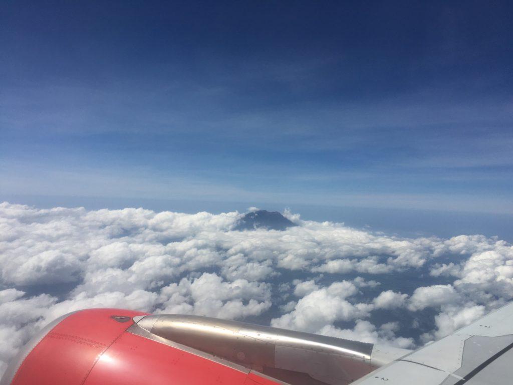 Mt. Agung lentokoneesta.